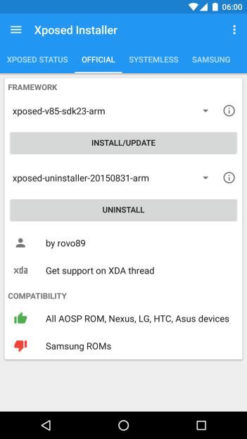 Xposed installer updates