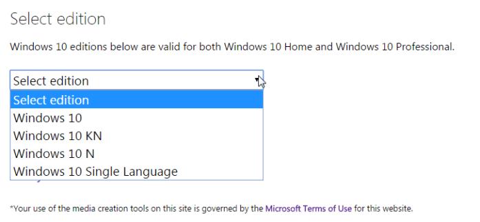 Windows 10 4 versions