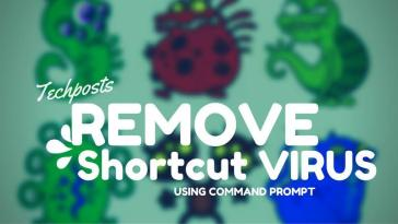 Remove shortcut virus from USB Storage and external drives using CMD