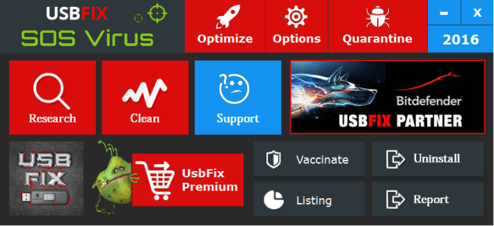 Remove virus and disinfect USb storage using USBFix