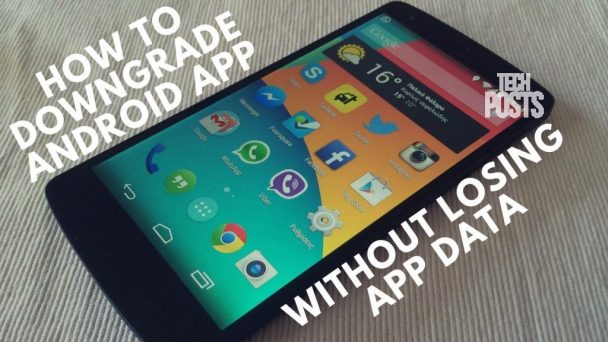 How to DownGrade android app