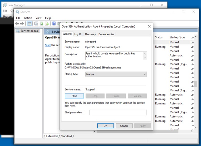настройка SSH в Windows