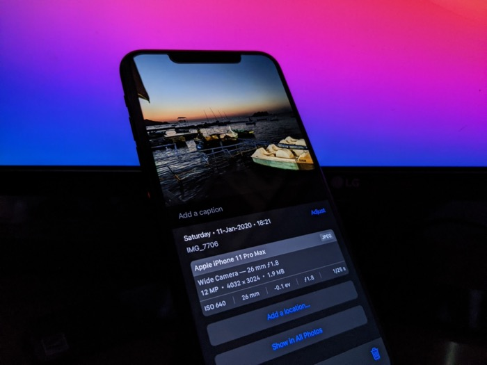 Exif data on iOS 15
