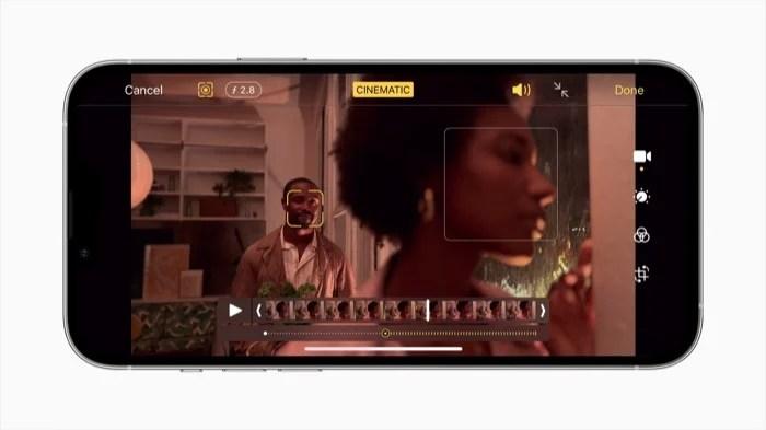iPhone 13 cinematic mode