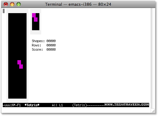 Play Tetris in Mac Terminal Window