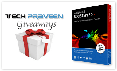Techpraveen Giveaway- Speed Up Your PC with Auslogics BoostSpeed 5 SE