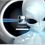 Alienware Windows 7 Logon Screen