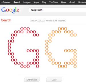 Zerg Rush - Google Easter Egg