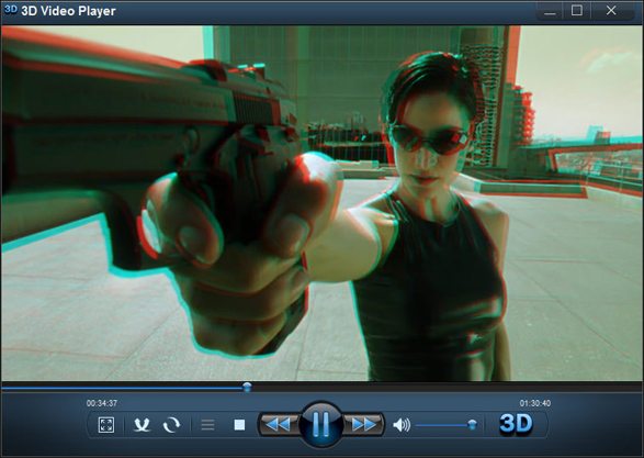3DVideoPlayer 3D ON Mode