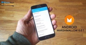 Android 6.0.1 Marshmallow in Samsung Galaxy S6 Edge