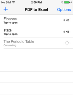 PDF to Excel iPhone App