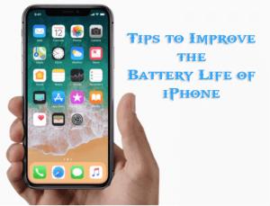 Improve iPhone Battery Life iOS