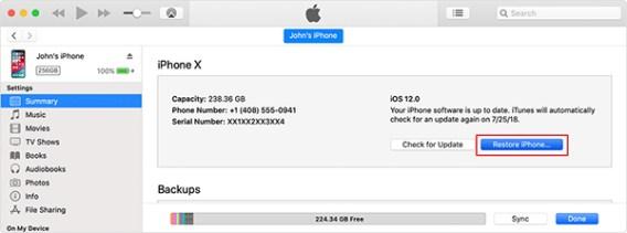 Restore your iPhone using iTunes