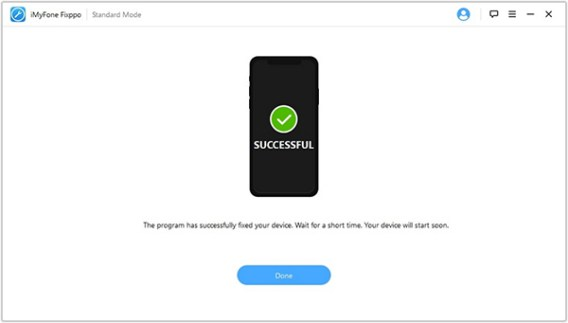 Step4 iMyFone Fixppo