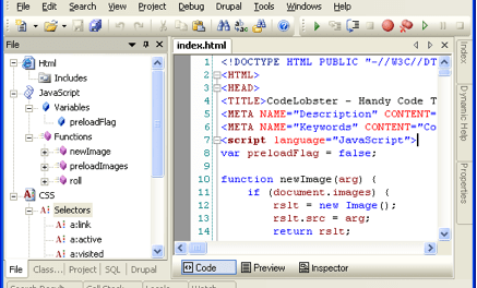 Codelobster PHP Edition (Free PHP IDE)