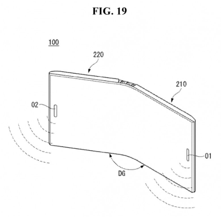 LG's Patent reveals foldable Phone with a Bezel-less