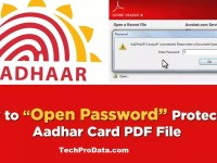 HOW TO OPEN AADHAR CARD PASSWORD