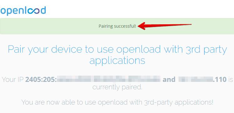 olpair.com pairing successful
