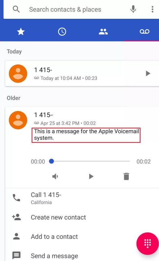 Setup Voicemail on Android