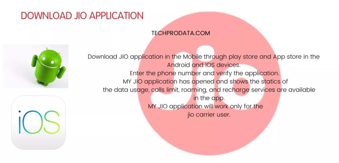 STEPS FOR JIO DATA BALANCE CHECK APPLICATION