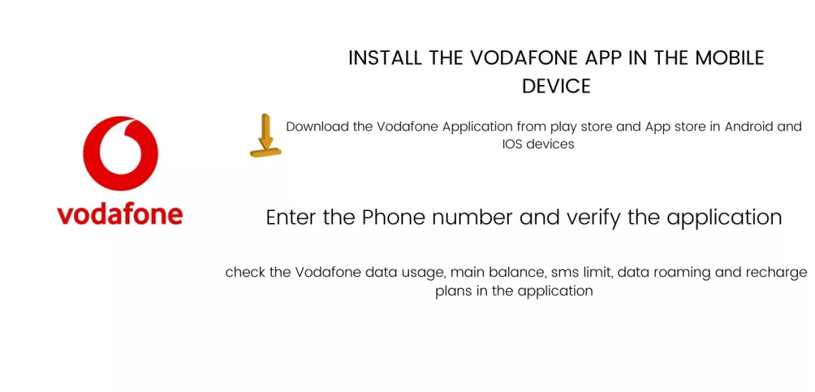 Install The Vodafone App in The Mobile Device