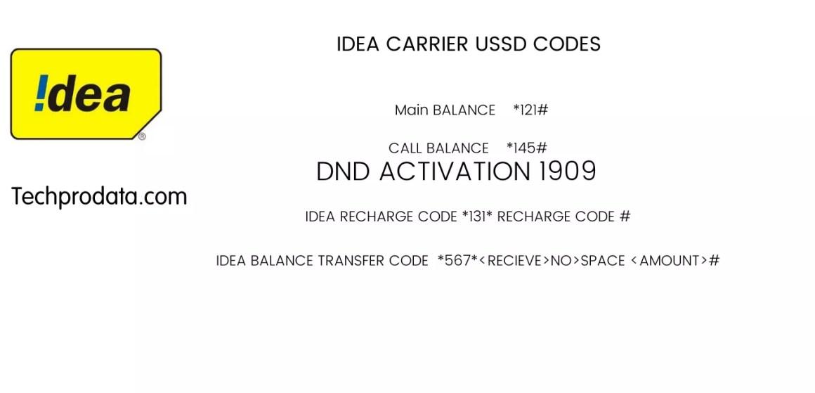 USSD CODE IDEA CARRIER