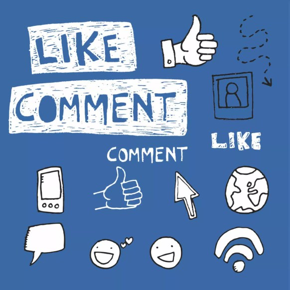 Manage comment levels and like posts on Facebook