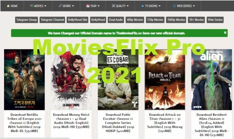 Moviesflix 2021 – Moviesflix Pro Free HD Movies Download | Hollywood Dubbed Movies Website latest News