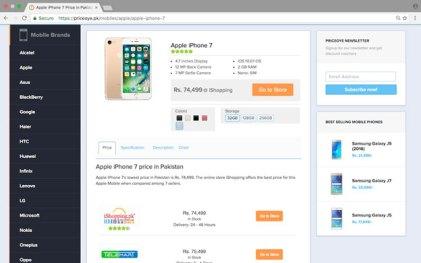 PriceOye iPhone 7 Prices