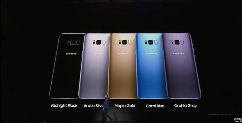 Samsung Galaxy S8 Colors