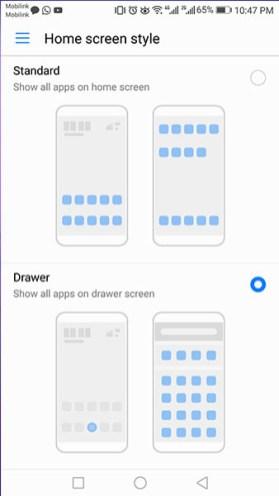 Home Screen Selector