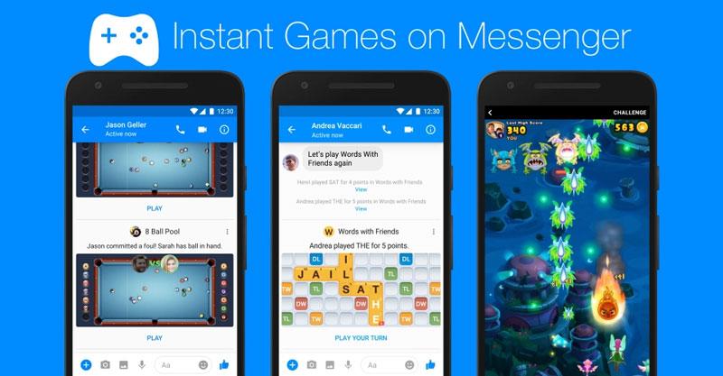 Facebook Instant Games on Messenger