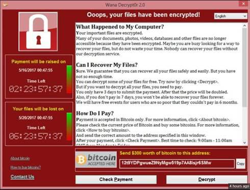WannaCry Ransom Cyber Attack