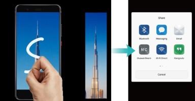 Huawei Knuckle Tap - Scrollshot