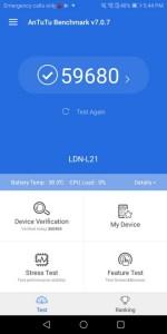 Huawei Y7 Prime 2018 Benchmark AnTuTu