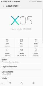 Infinix Hot S3 XOS Software