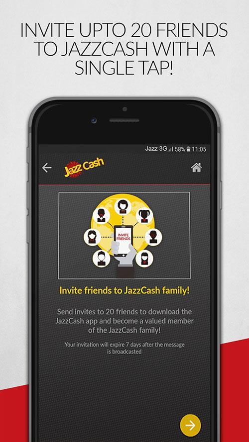JazzCash App Screen