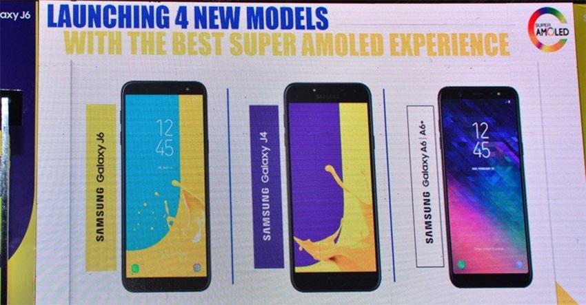 Samsung Galaxy J6, J4, A6, A6 Plus Launch