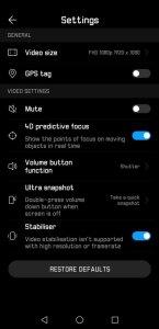 Huawei P20 Pro Camera UI