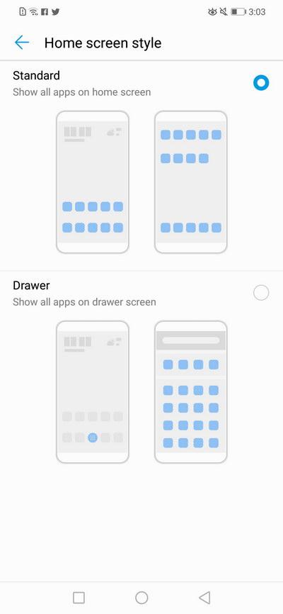 Huawei Nova 3i - App Drawer