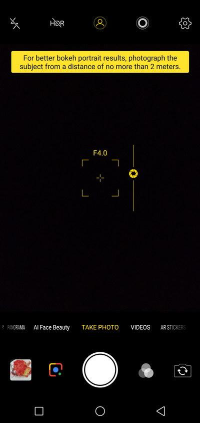 Vivo V11 Camera UI