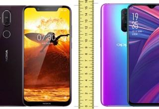 Nokia 8.1 vs OPPO R17 Pro