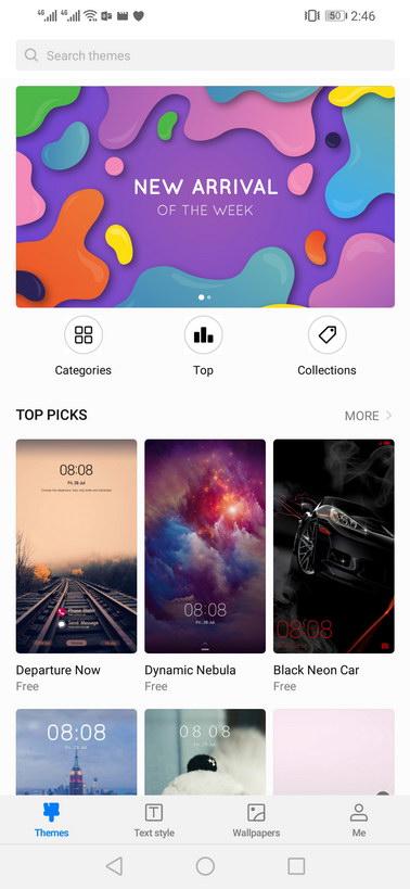 Huawei Y9 2019 Themes