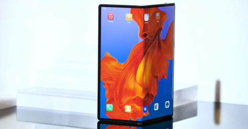Huawei Mate X Half Folded