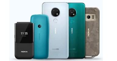 Nokia 110, Nokia 2720 Flip, Nokia 6.2, Nokia 7.2, Nokia 800 Tough