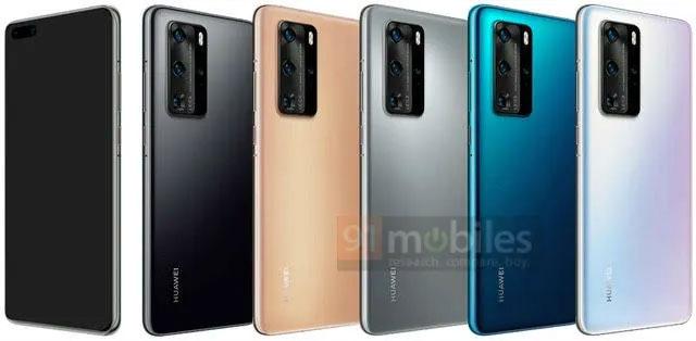 Huawei P40 Pro Leaked Render