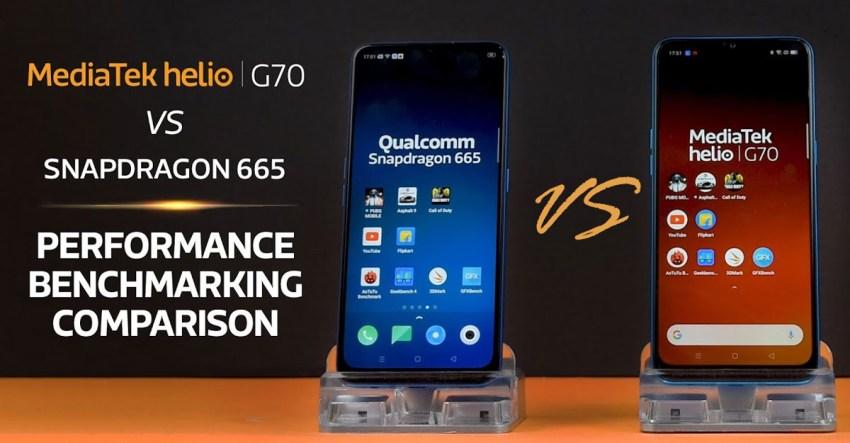 Helio G70 vs Snapdragon 665