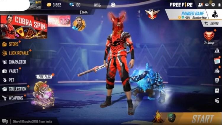 Screenshot of Free Fire Cobra Update