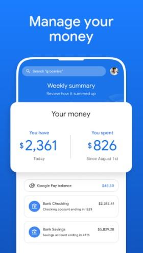 Screenshot of Google Pay Apk