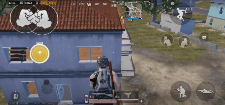 Screenshot of PUBG Long Jump Trick
